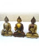 REF14 – BOUDDHA (Robe sculptée)  H. 15cm  – (Reste : 2 pièces)