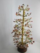 A) ARBRE DE VIE 500 Pierres Multico   (Socle bois, Tronc & branches laiton)