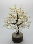 B)  ARBRE DE VIE 300 Pierres Cristal (Socle bois, Tronc & branches résine) – Diverses pierres