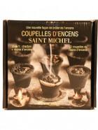 Aromatika Coupelles Encens SAINT-MICHEL, 2 en 1  :  charbon + résine encens (prêt à brûler)