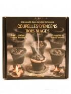 Aromatika Coupelles Encens ROIS MAGES, 2 en 1  :  charbon + résine encens (prêt à brûler)