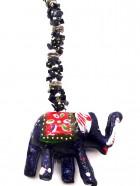 N° 1 – PROTECTION PORTE-BONHEUR  Pierres + ELEPHANT laqué peint