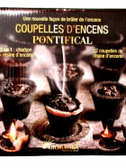 Aromatika Coupelles Encens PONTIFICAL 2 en 1 : charbon + résine (prêt à brûler)