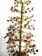 A – ARBRE DE VIE – 500 Pierres – Multico 7 chakras (Socle Bois, Tronc & Branches Laiton) – Existe en diverses pierres