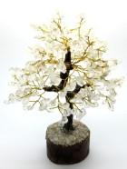 B – ARBRE DE VIE – 300 Pierres – Cristal (Socle Bois, Tronc & Branches Résine) – Existe en diverses pierres