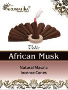 CONES AROMATIKA VEDIC MASALA AFRICAN MUSK (Musc africain) (couleurs végétales)
