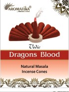 CONES AROMATIKA VEDIC MASALA DRAGONS BLOOD  (Sang des dragons) (couleurs végétales)