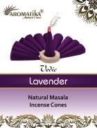 CONES AROMATIKA VEDIC MASALA LAVENDER  (Lavande) (couleurs végétales)