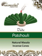 CONES AROMATIKA VEDIC MASALA PATCHOULI (couleurs végétales)