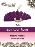 CONES AROMATIKA VEDIC MASALA SPIRITUAL LOVE  (Amour spirituel) (couleurs végétales)