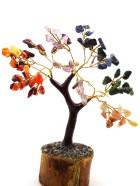 B  – ARBRE DE VIE 100 pierres (Socle bois, Tronc & Branches Résine) – Existe en diverses pierre