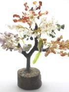 B – ARBRE DE VIE 200  Pierres avec 1 Oiseau (Socle bois, Tronc et branches résine)