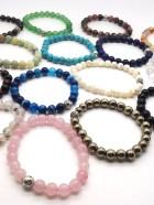 REF501 (Perles 8mm)  & 501A (Perles 10mm)  – BR. PIERRES avec  Perles métal diverses