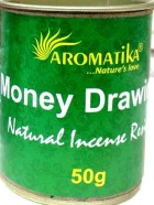 ENCENS RESINE NATURELLE MONEY DRAWING  (Attire l'agent) – Lot de 6 boîtes de 50g